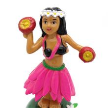 Солнечная Танцующая Гавайская девочка хула качающаяся голова игрушка Танцующая кукла Гавайские качающиеся анимированные автомобильные аксессуары Игрушка на солнечной энергии