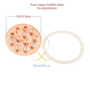 "NEW OD157mm 99.9% Red Copper  bubble  plate for  6,5"" distillation column . Home Distillation, Reflux column, Moonshine"