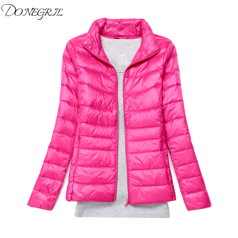Women Winter New Jacket Women 2018 Fashion Light thin Warm Short   Parkas   Women Solid color Large size S-7XL Cotton-padded jacket