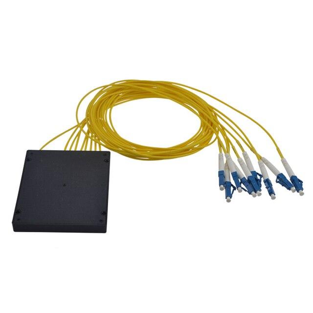 LC 1X8 PLC Singlemode Fiber Optical splitter FTTH PLC ABS type LC PLC optical fiber splitter LC connector Free shipping