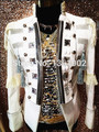 Plus Custom made Tuxedo white Crystal men ds dj male singer performance outerwear blazer costume show rhinestone jacket outfit