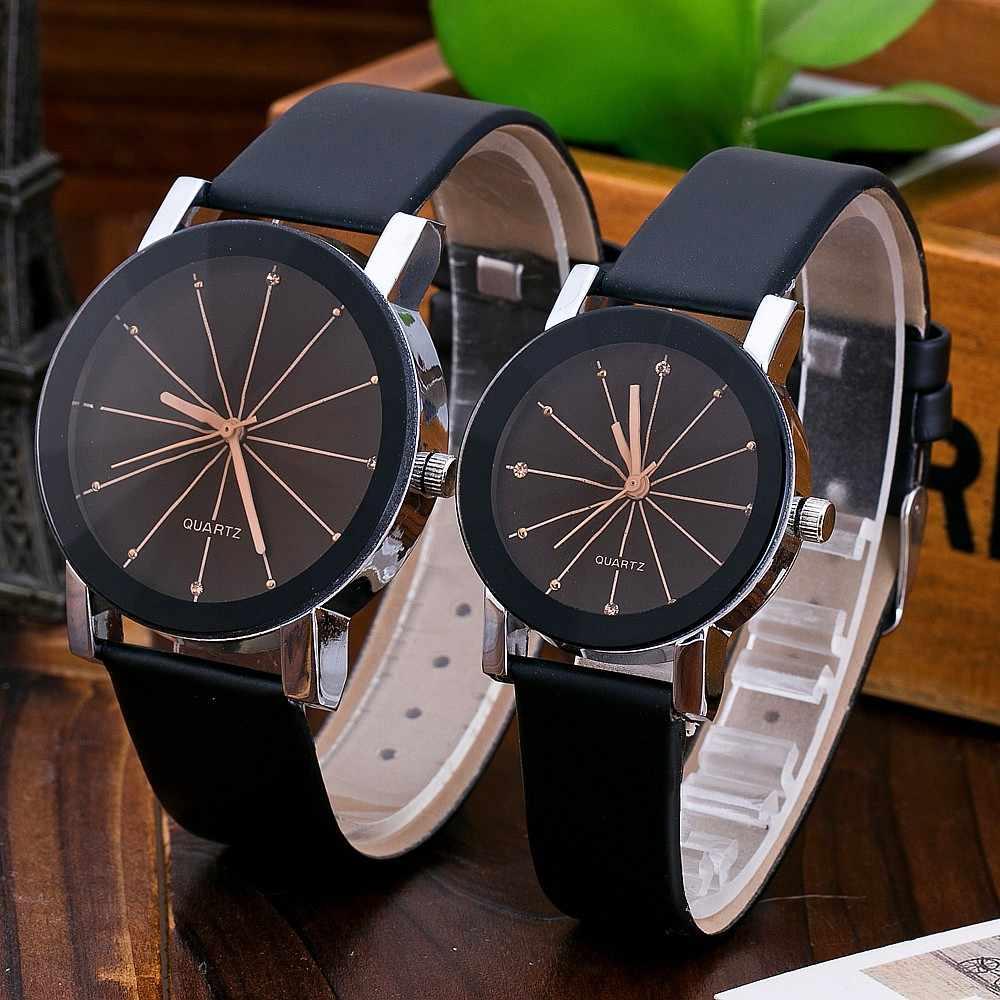 Novo atraente de alta qualidade nova chegada feminina quartzo dial relógio de pulso de couro caso redondo moda relógios esportivos femininos