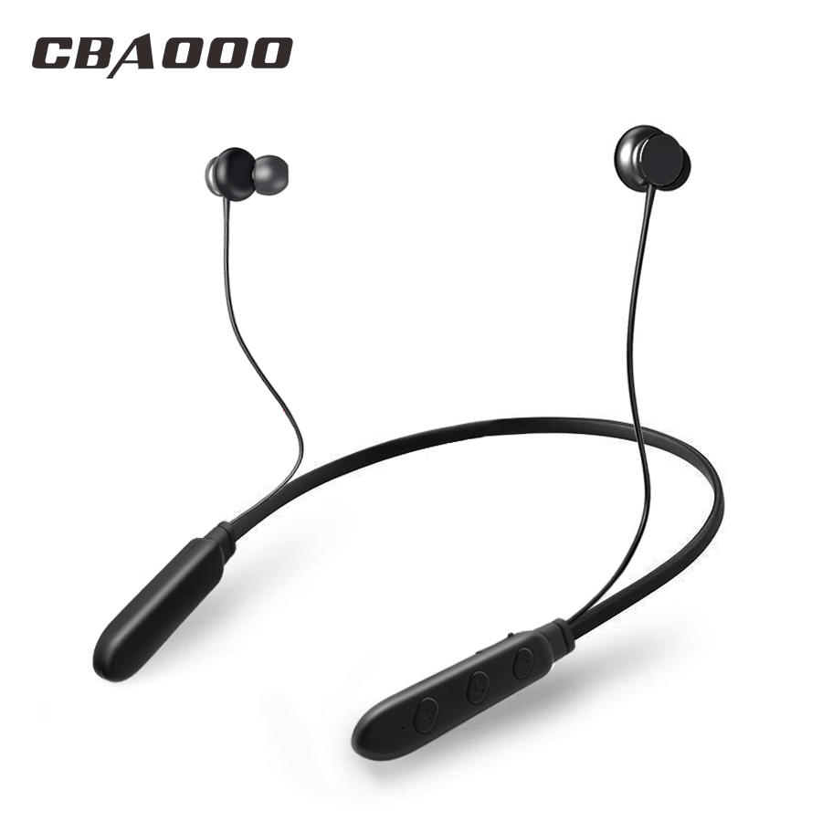 CBAOOO BH1 Bluetooth Headphone Wireless Earphone Bluetooth Headset Sport Hanging Neck with Microphone for android iphone xiaomi original xiaomi bluetooth headphone with microphone wireless headset bluetooth for iphone samsung xiaomi headphone dropshipping