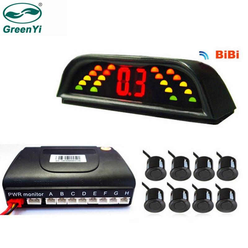 Greenyi оптовая продажа 5 шт./лот LED Автостоянка Сенсор комплект 6 Датчики обратный резервный радар Системы 12 В 6 цветов