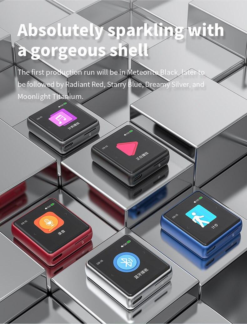 hi-res bluetooth tela de toque mp3 player
