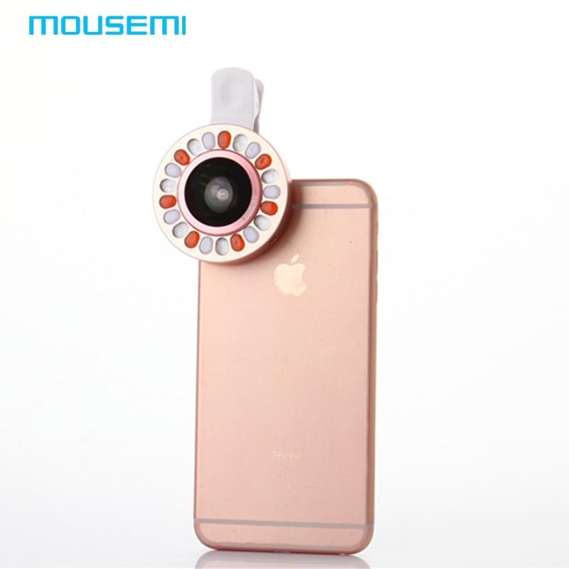 MOUSEMI 0.4x Wide Angle <font><b>Lens</b></font> With LED Lighting For <font><b>iPhone</b></font> 7 6 <font><b>5s</b></font> <font><b>Camera</b></font> Mobile Phone <font><b>Lens</b></font> To Smartphone <font><b>Lenses</b></font> for xiaomi redmi