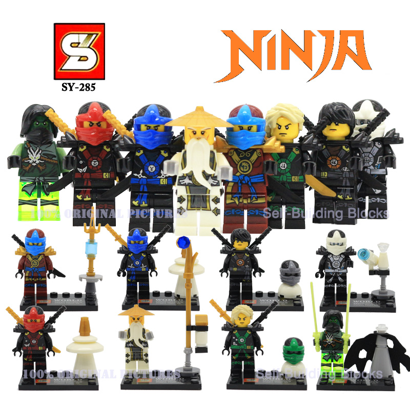 Newest Arrival SY285 Ninja Ninja With Weapons Minifigures Building Block Figures Toys Collection VS Star Wars Minions Avengers