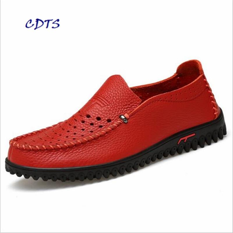 Azul Macio Frete Homens Llxf Mocassins branco Genuíno Grátis De Tamanho vermelho Condução marrom Couro Verão Qualidade Alta Big Sapatos 35 Zapatos 47 chocolate Flats ~ RRYnxU