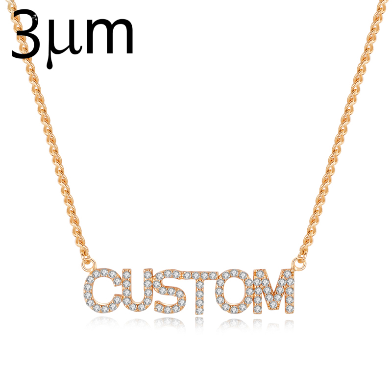 3UMeter Full Crystal Personalized Name Necklace with Zircon Stone3UMeter Full Crystal Personalized Name Necklace with Zircon Stone