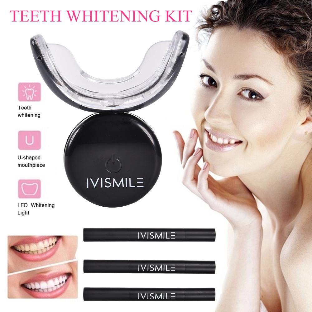 Teeth Whitening Dental Bleaching System Oral Gel Kit Tooth Whitener Dental Equipment Whitening Kit Blue LED Light