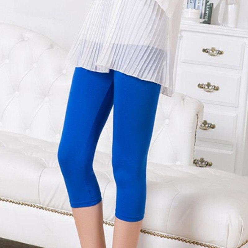 2018 summer children girl casual cute soft   capris   leggings clothing kids girls modal Legging