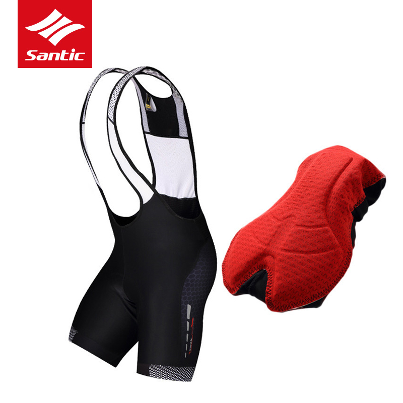 Santic Men Cycling Bib Shorts 2017 Summer Pads MTB Road Bicycle Bike Shorts Cycling Bib Shorts Ropa Ciclismo Moisture Wicking santic men s professional cycling bib shorts coolmax padded man s bicycle bib shorts 3d braces pants bike tights s 3xl