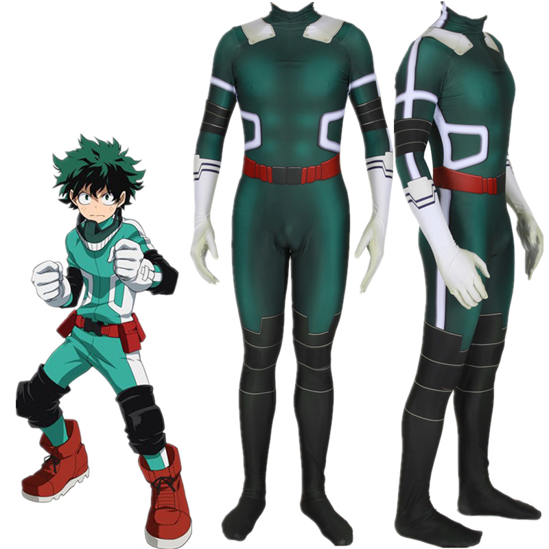 Homens Crianças Anime Herói Academia Izuku Midoriya Cosplay Zentai Bodysuit Macacões Terno Meu