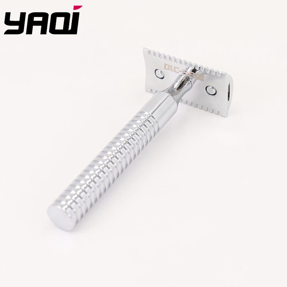 Yaqi High Quality Chrome Color Light Safety Razor For Wet Shaving