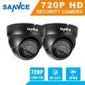 SANNCE 2 pcs AHD 720 P HD 1.0MP alta resolução Câmeras de Segurança CCTV H.264 Waterproof Indoor/Outdoor Câmeras de Vigilância conjunto
