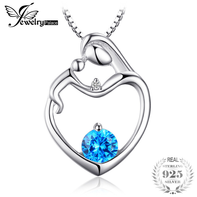 Jewelrypalace heart natural blue topaz diamond pendant necklace jewelrypalace heart natural blue topaz diamond pendant necklace gemstone fine jewelry 925 sterling silver 45cm chain aloadofball Images