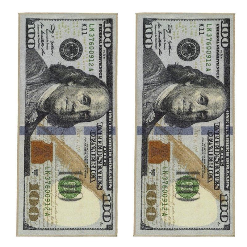 Crative Non-Slip Area Rug Modern Home Decor Carpet Runner Dollar Printed Carpet One Hundred Dollar 100 Bill Print