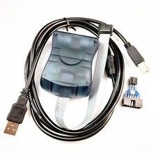 مبرمج نظام داخلي Atmel AT AVRISP mkII XP2 AVR ISP mk2 USB AVRISP يدعم AVR Studio 4 & 5 & 6 & 7
