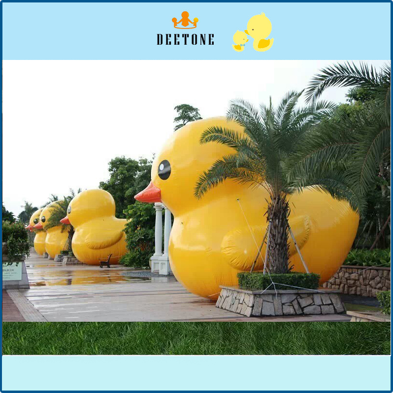 Outdoor Water Advertising Inflatable Duck Model Big Yellow Rubber Duck For Commercial