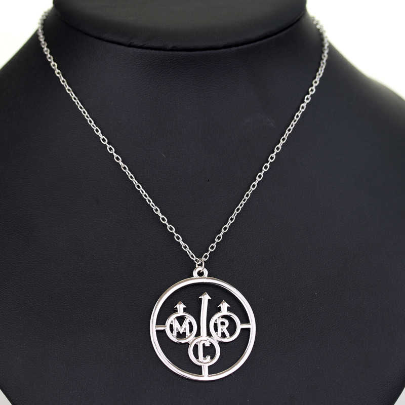 MQCHUN Rock Band MCR Necklace Music Band My Chemical Romance Pendant Necklace Fashion Silvery Metal Necklace for Women Men-30