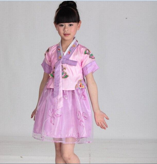 Girls Hanbok Dress Kids Party Korean Traditional Clothes Wedding ...