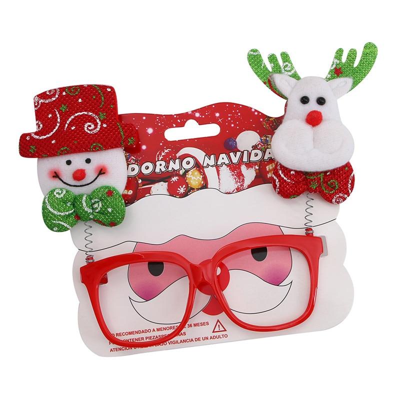 Christmas Glasses Frame Xmas Decoration Novelty Fancy Dress Santa Snowman Xmas Multicolour multicolour Christmas Gift MC45