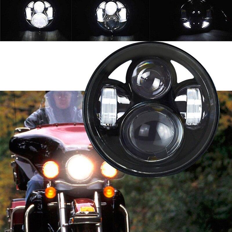 ФОТО 5.75 inch LED Headlight 40W Driving Lamp for Harley Davidson Motorcycle headlamp High/Low Dual Beam with Angel eyes