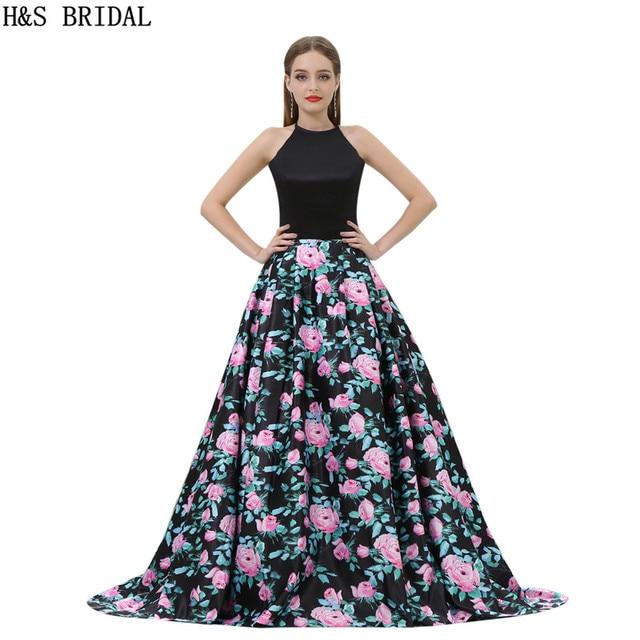 H & S BRAUT A line Abendkleider casamento Halter Prom Abendkleid ...