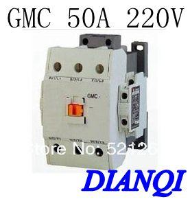 CONTACTOR AC GMC GMC-50 50a 220v 50/60hz high quality freeshipping a2175hbt ac fan 171x151x5 mm 17cm 17251 230vac 50 60hz