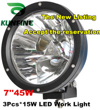 "7"" 45W LED Working Light Spot Flood Lamp Motorcycle Tractor Truck Trailer SUV Offroads Boat 10-30V 4WD KF-2345"