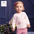 DB4358 dave bella primavera outono do bebê meninas flor rosa camisola elegante design doce cardigans camisola