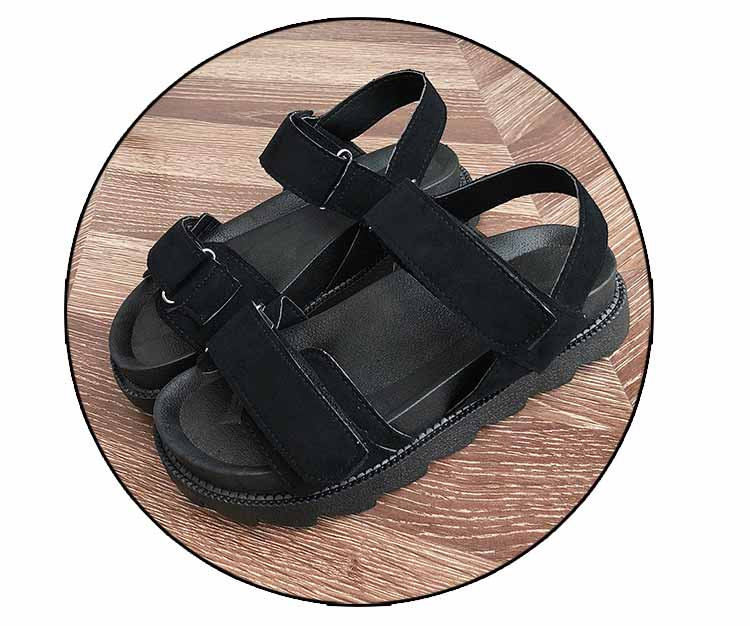 Women shoes adult solid sandals women 2019 fashion med heel height women sandals flat with casual shoes woman sandals female  (17)
