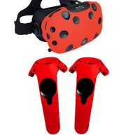 Red For HTC Vive Headset VR Silicone Case Cover VR Glasses Helmet Controller Handle Case Skin