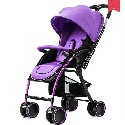 Bidirectional stroller ultraportable child can sit or lie folded umbrella stroller baby four portable shock