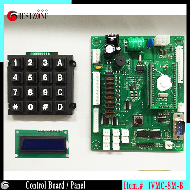 toy vending machine mainboard with control panel a set with mdb andtoy vending machine mainboard with control panel a set with mdb and dex interface control circuit board electronic controller