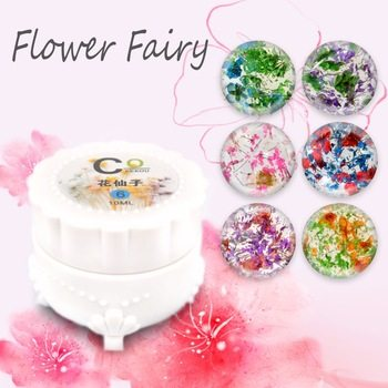 YZWLE 1 box 10ml Flower Fairy Gel Floral Soak Off UV Gel 6 Colors Manicure Gel Decoration Tool For Nails #UV Gel002