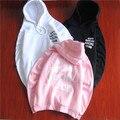 Gd Kanye anti club social con capucha letras sueltas con rosa de lana chaquetas hombres y mujeres