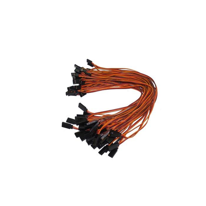 300mm 30 cm 26awg 500 pcs/lot câble de fil d'extension de servos RC pour câbles de prise mâle et femelle Futaba JR câblage livraison gratuite