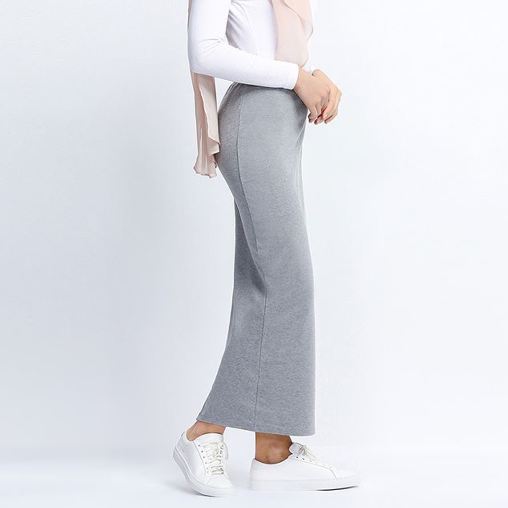2018 European American Women Fashion All-match Casual Solid Pure Cotton Ankle Length Elastic Leisure Female Pencil Long Skirt