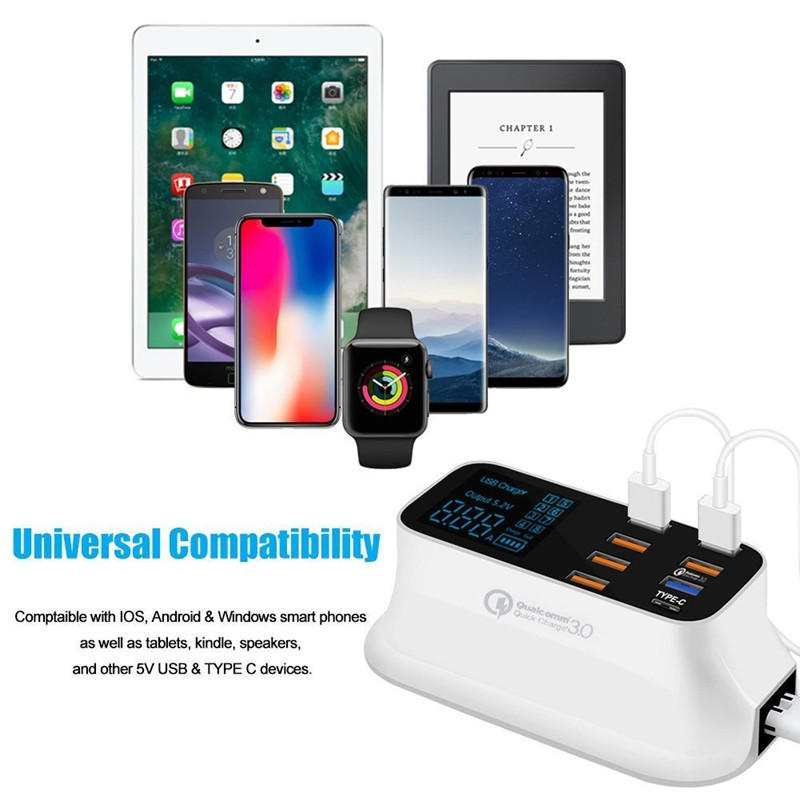 Qualcomm quick charger 3.0 type c fast charging USB charger (7)