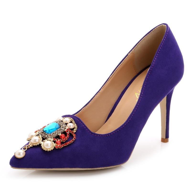 ФОТО 2017New Fashion Woman High Heels Women Pumps Crystal Women's Shoes Pointed Toe High Heels Wedding Shoes size 34-43 889-64TS