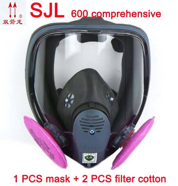 SJL full face mask with 2091 Particulate Filter P100 filter For 6800 Gas Mask Full Facepiece Respirator Mask free shipping uv cs airsoft mask earmuffs professional wind 3 color paintball mask shock full face protect mask free shipping