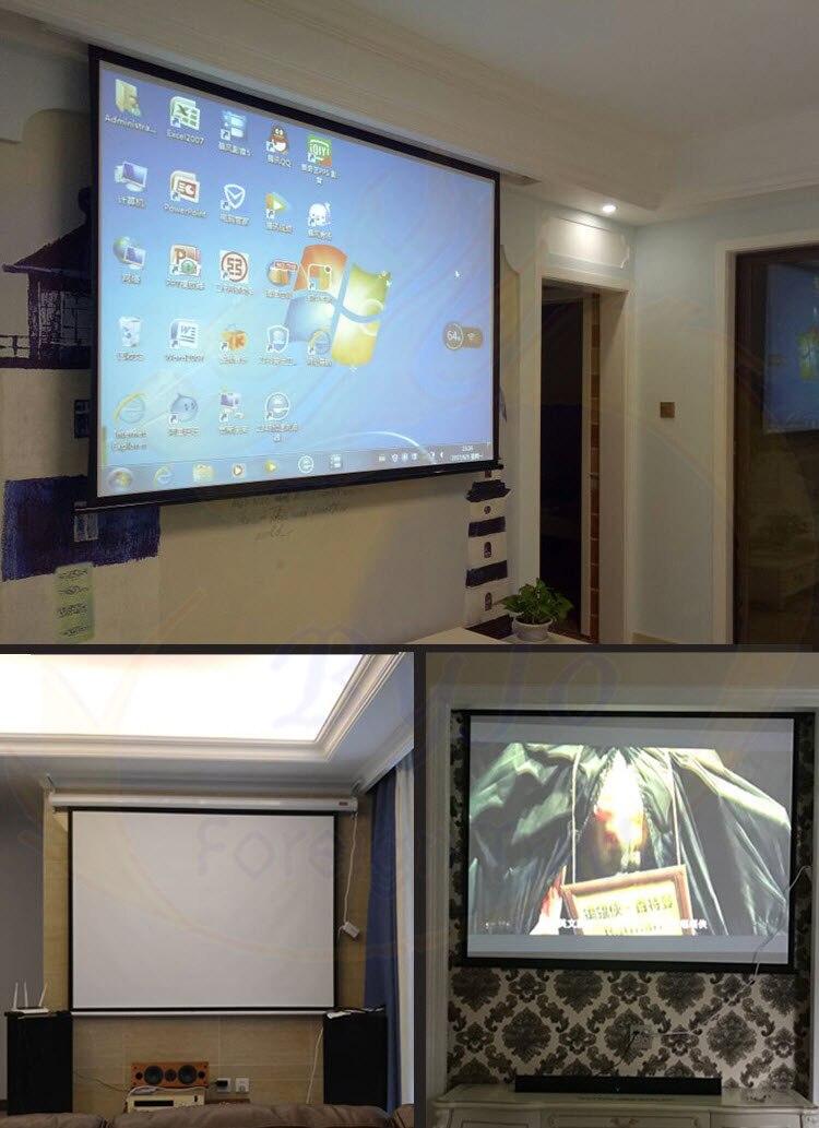 Электрические шторы 60 72 84 100 дюймов 16:9 или 4:3 моторизованный экран для всех LED LCD DLP лазерный проектор электрический проектор экран - 4