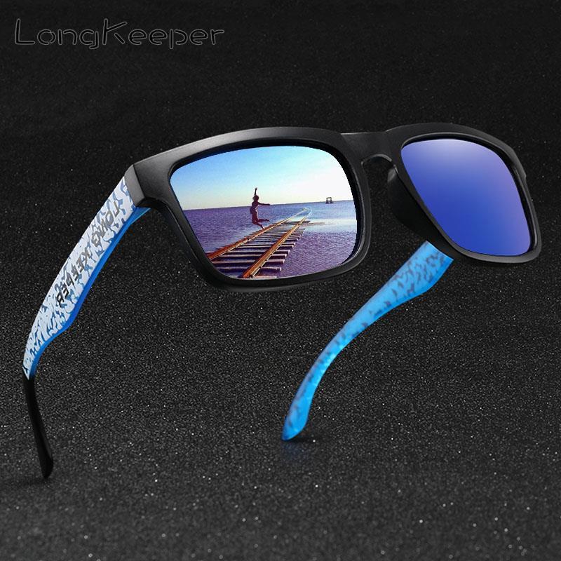LongKeeper Classic Square Polarized Sunglasses Men Women Star Style Goggles Sun Glasses Sports Mirror gafas de sol hombre UV400
