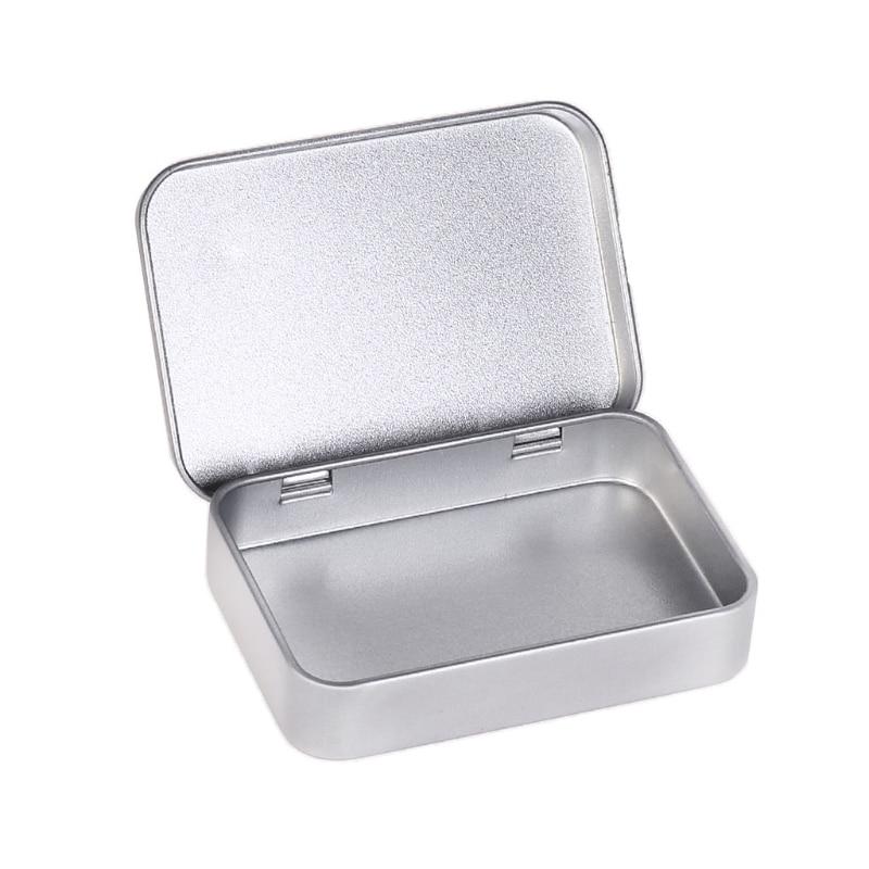 Mini Metal Box Lighter Gift Case Money Coin Candy Key Tool Sealed Jar Storage