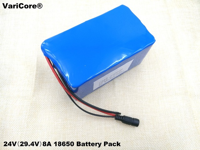 24 V 8Ah 7S4P 29.4 V 18650 Lithium Battery + battery protection and control; Electric car battery, bicycle battery24 V 8Ah 7S4P 29.4 V 18650 Lithium Battery + battery protection and control; Electric car battery, bicycle battery