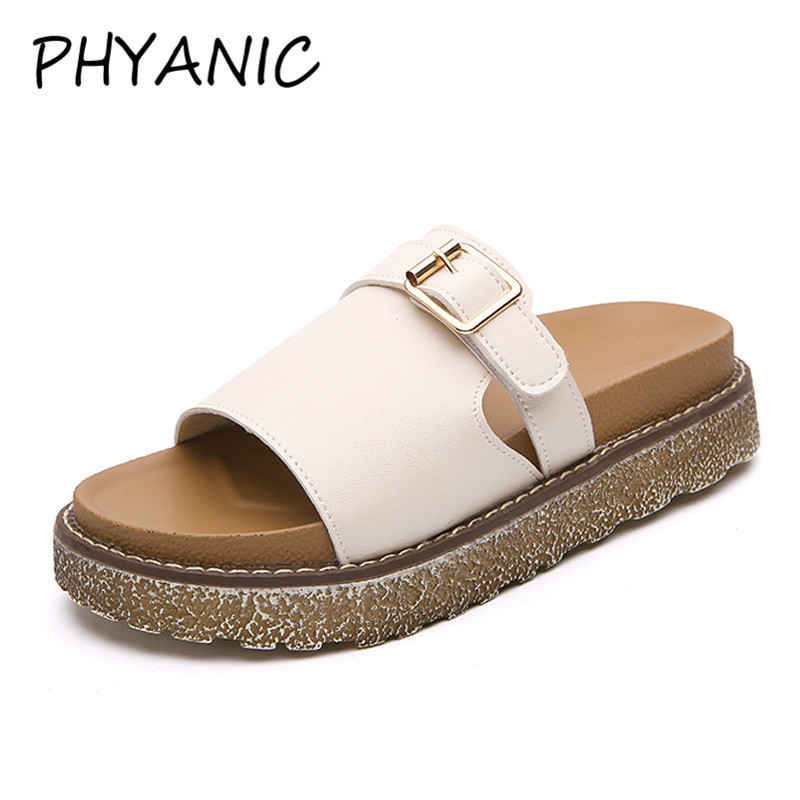 PHYANIC Hot 2018 New Summer Woman Beach Slippers Sandals Casual Buckle Clogs Sandalias Women Slip on Flip Flop Shoes CPW3121 hahaflower summer women slippers flower slipper beach thong slipper mules clogs garden shoes woman flats jelly sandals flip flop