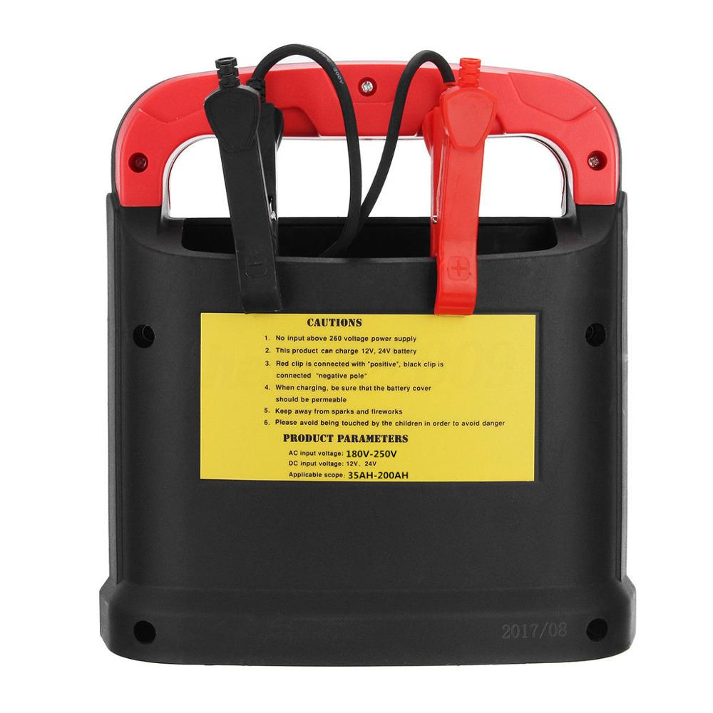 Portable 14a Truck Car Jump Starter Battery Charger Detector Short Circuit Protection 12v 24v 1 X
