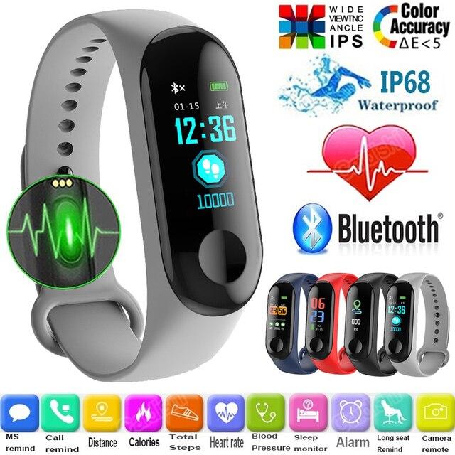 M3C Smart Bracelet Color Screen Blood Pressure Waterproof Fitness