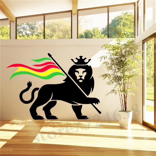 Rasta Lion Rastafari Lion Of Judah Bob Marley Vinyl Wall Art Sticker Decal